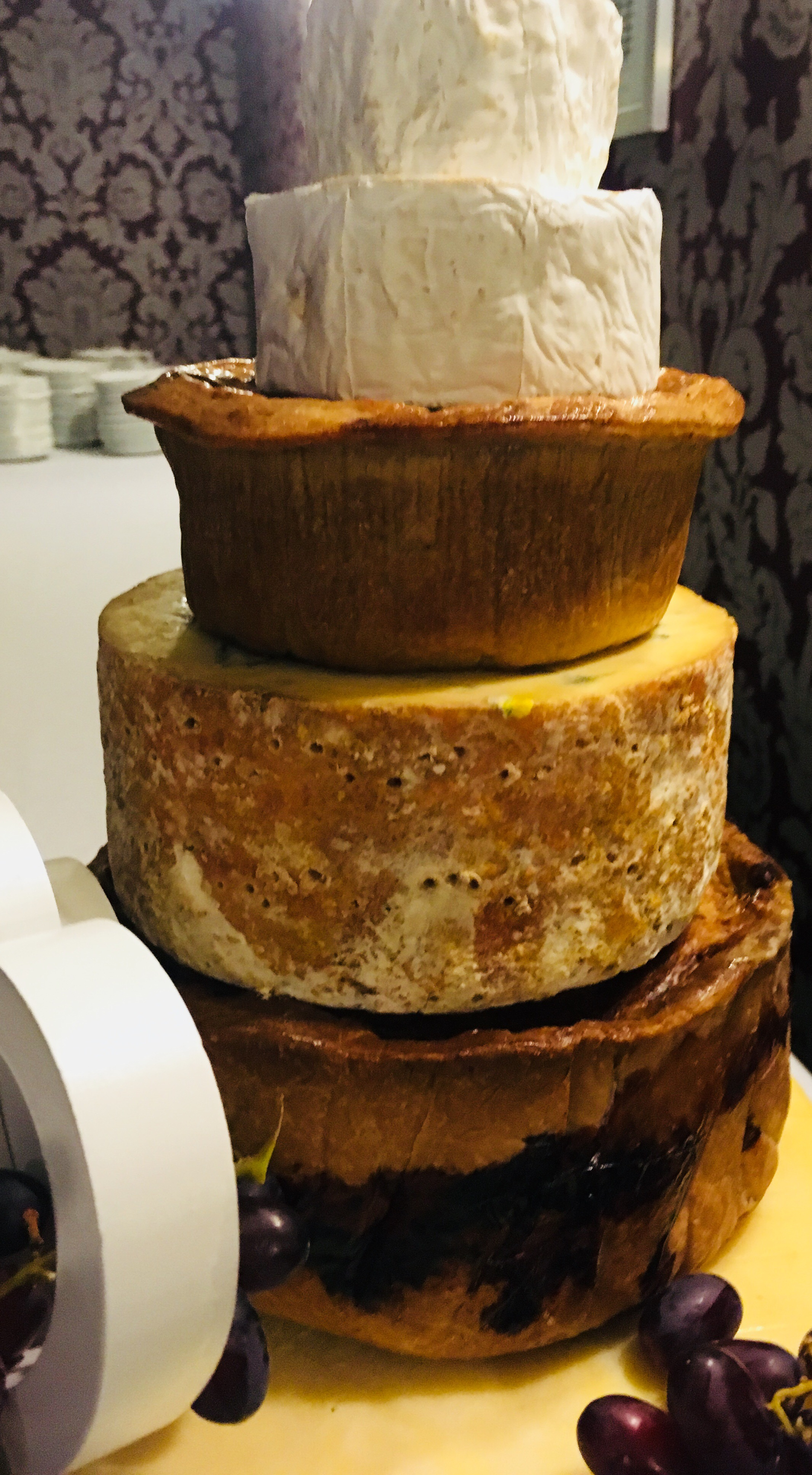 cheese wedding cakes north west cheese and pork pie wedding cake the west country cheese 12614