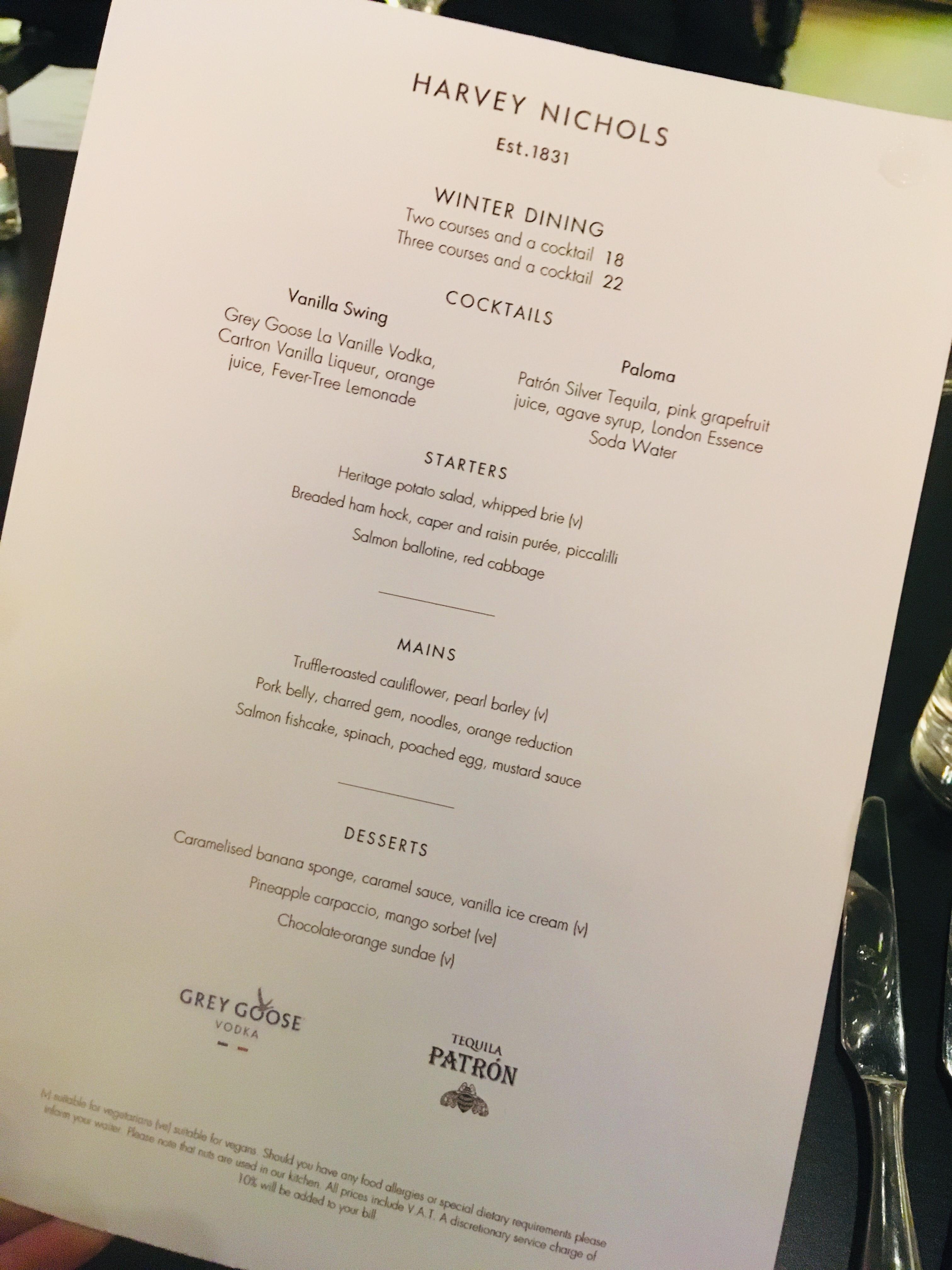 Wine tasting and dinner | Harvey Nichols Restaurant, Mailbox